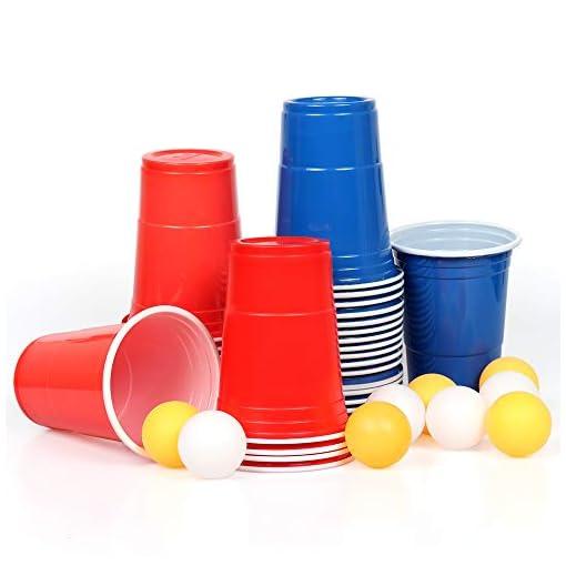 100x-Beer-Pong-Becher-Partybecher-Set-Rote-Plastikbecher-Rot-und-Blau-473ml-Bier-Pong-Cups-Solo-Cups-mit-Bllen-Wiederverwendbar-16-oZ-fr-Getrnke-Party-Camping-Cocktail-Bier-Neues-Jahr-Weihnachten-Gebu