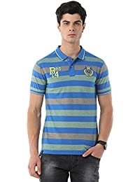Classic Polo Bro Striped Blue T-shirt For Men