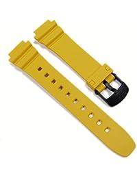 Casio Ersatzband Uhrenarmband Resin Band Gelb LW-202H-9AVH LW-202H