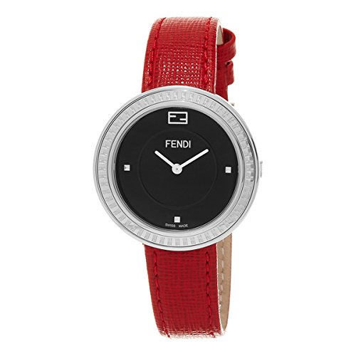 Fendi My Way F354031073 36mm Stainless Steel Case Red Calfskin Synthetic Sapphire Women's Watch