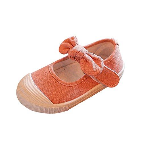 Zapatos Planos Cómodo y Transpirable Zapatillas de Deporte Unisex Niñas Zapatos con Arco Rosado 25