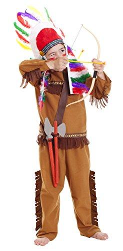 Childs Native American Red Indian Fancy Dress set per giochi di ruolo-3-6anni