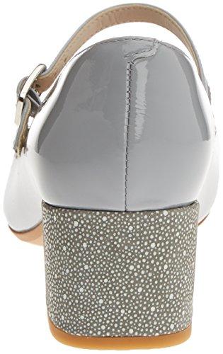 Clarks Damen Chinaberry Pop Offene Sandalen mit Keilabsatz Grau (Grey/Blue)