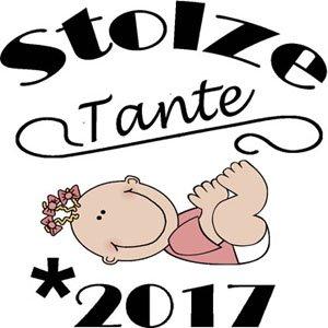 Mister Merchandise Ladies Damen Frauen T-Shirt Stolze Tante - 2017 Tee Mädchen bedruckt Royal