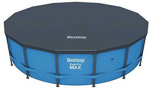 Bestway 58038 Flowclear Pool-Abdeckplane Ø470 cm, grau