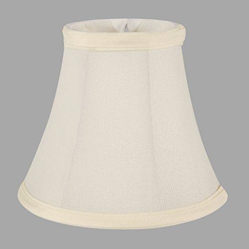 onepre creme Leinen Clip auf Lampenschirme Kleine Kerze Kronleuchter Lampenschirm Bell 15,2cm (Lampenschirm Leinen Creme)