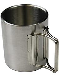 Timbale d'acier inoxydable gobelet de camping en deux grandeurs different de BB Sport, volumen in l:300 ml