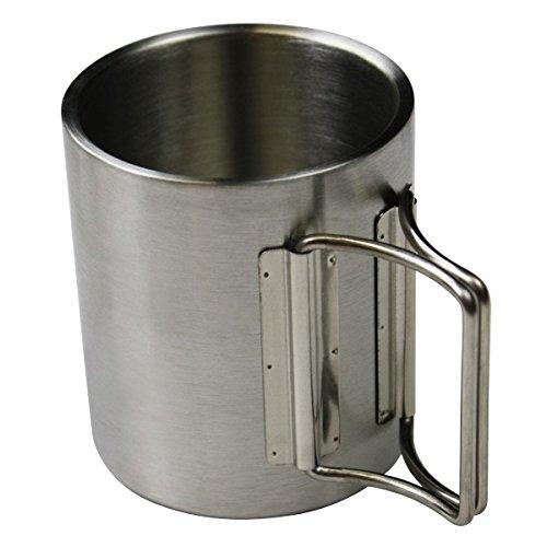 Edelstahl-Trinkbecher Camping-Tasse doppelwandig in zwei unterschiedlichen Größen von BB Sport, Volumen:300 ml