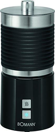 Bomann MS 479 CB Milchaufschäumer, Edelstahlbehälter, warm-und kalt aufschäumen, schwarz