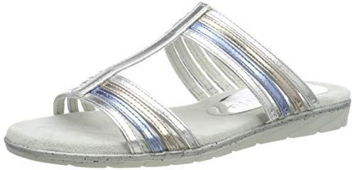 Tamaris Damen 1-1-27106-22 Pantoletten, Silber (Silver Comb 948), 41 EU