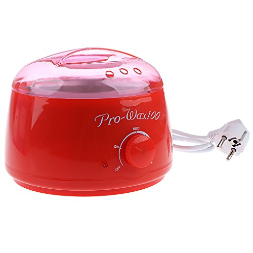 Segolike Salon Spa Hair Remover Hot Paraffin Wax Warmer Heater Pot Depilatory Machine for Body Legs Hair Cleansing - red