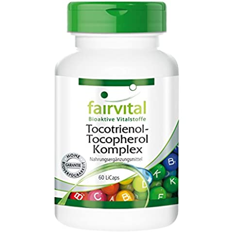 Fairvital - Complesso tocotrienolo-tocoferolo (vitamina E da estratto di olio di palma) - 60 Licaps®