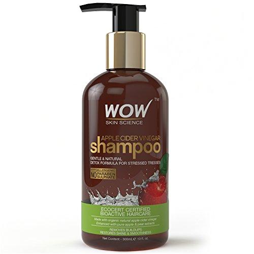 WOW Apple Cider Vinegar Shampoo - 300 mL - No Sulphate - No Parabens - Infused Organic Natural Apple Cider Vinegar