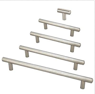 Brushed Steel T Bar Handles Kitchen Bedroom Cabinet Door Drawer Pull Knobs produced by Nollmit - quick delivery from UK.