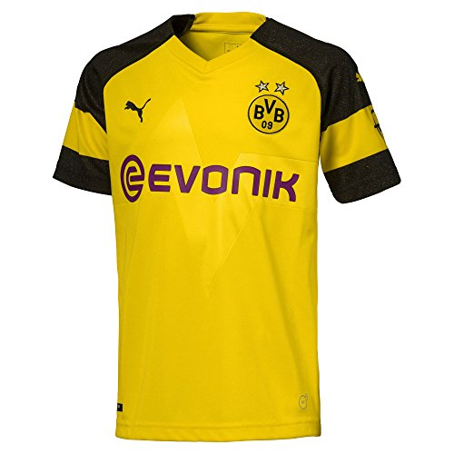 73c83579bfc Puma Men's BVB Home Shirt Original with Evonik OPEL Logo Jersey, Cyber  Yellow, ...