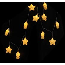 Rosymoment Arabic Fanoos and Star Design String and Fairy 17 Led Lights, Yellow