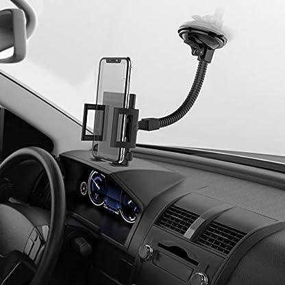MONTOLA-Universal-Navi-GPS-KFZ-Halterung-kompatibel-mit-Tomtom-Garmin-und-Tablets-KFZ-Halterung-mit-Kugelgelenk-und-Schwanenhals-passend-fr-jedes-Auto
