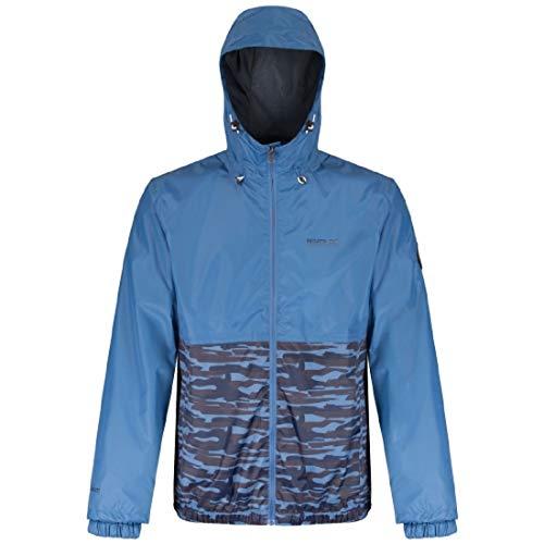 Regatta Mens Akka Waterproof Breathable Bomber Rain Jacket