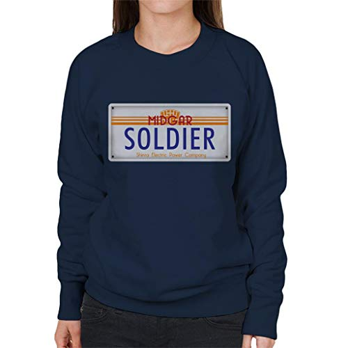 Cloud City 7 Final Fantasy Midgar Soldier License Plate Women's Sweatshirt