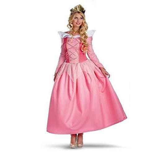 (Yunfeng Hexenkostüm Damen Halloween-Party Kostüm Rolle Rosa Kleid Königin Kostüm Kostüm)