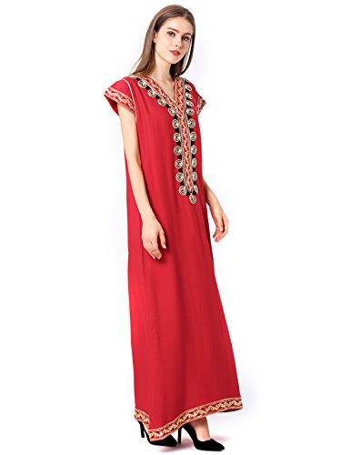 321778359fa ... vetement femme musulmane   muslima abaya robe islamique Caftan brodé  jalabiya rayonne dubai maxi dress longue ...