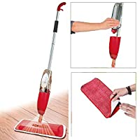 Multifunctional Stainless Steel Microfiber Floor Cleaning Healthy Spray Mop with Removable Washable Cleaning Pad and Integrated Water Spray Mechanism
