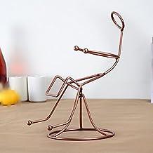 wkaijc Creatividad Mode humano Gestalt personalidad Fácil columpio sillas–Estantería adornos Vino Vino monocolor