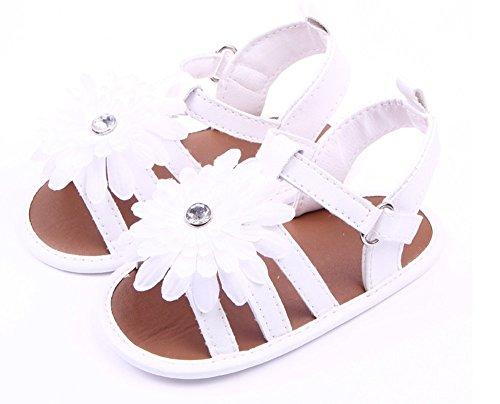 xhorizon® KL Y238 Orné De Fleur Légères Souples Sandales Chaussures Pour Fille Tout-petit Bambine -blanche blanche