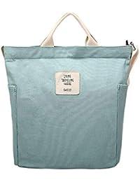 Gindoly Casual Handtasche Damen Henkeltasche Schulrucksack Damen Canvas Chic Schultertasche Große umhängetasche Tasche
