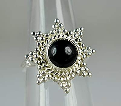 Bague onyx noire ~ Onyx noire ~ Bague en argent sterling 925 ~ Bague faite main ~ Bague en argent ~ Bague noire ~ Taille 44 à 68 FR