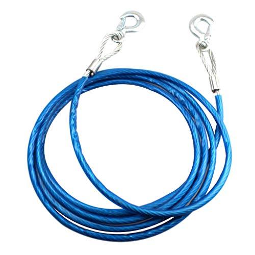 Tenlacum Abschleppseil, 5 m, 7 Tonnen, Stahl, 10 mm Durchmesser, Blau