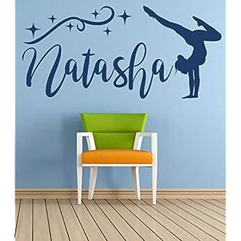 Personalisierter Name, Turner, Vinyl Wandkunst Aufkleber, Wandbild, Aufkleber. Haus, Wanddekoration, Kinderzimmer, Kinderzimmer, Spielzimmer Dekor.