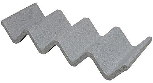 CLIMAPOR Flaschenregal Wave aus Styropor, grau - für 3-4 Flaschen - erweiterbar - 68 x 26 x 8,5 cm, 5 Stück