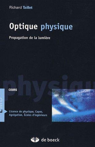 Optique physique Cours : Propagation de la lumière