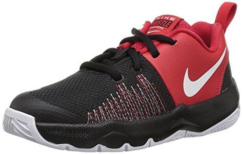 Nike Jungen Team Hustle Quick (ps) Basketballschuhe, Mehrfarbig (Black/White/University Red 002), 30 EU (Nike Kids Basketball-schuhe Jungen)