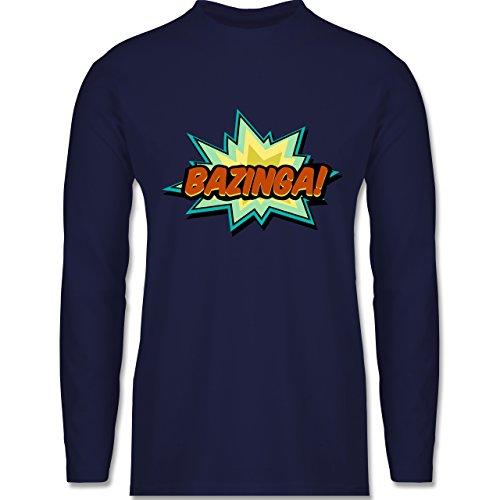 Comic Shirts - Bazinga! - Longsleeve / langärmeliges T-Shirt für Herren Navy Blau