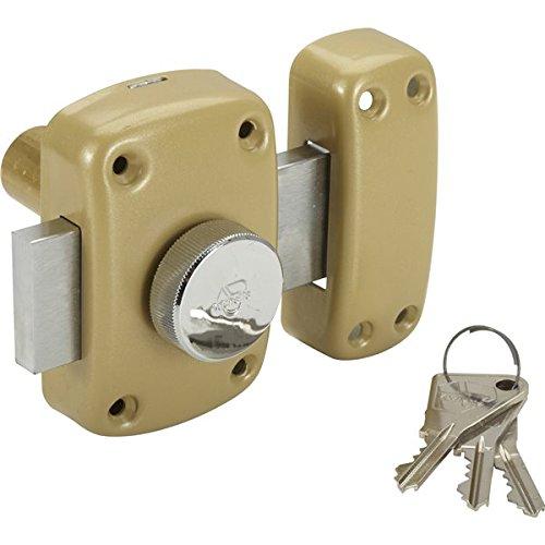 Vachette - Verrou de sureté bouton et cylindre série Cyclop - 45 mm bronze Vachette