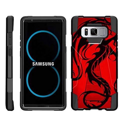 turtlearmor | Kompatibel für Samsung Galaxy Note 8Case | N950[Dynamischer Shell] Hybrid Dual Layer Hard Shell Ständer Silikon Fall -, Red Dragon (Mobile Galaxy Virgin Note Samsung)