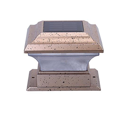 demiawaking Outdoor Zaun Licht Solar Powered Säule Beleuchtung wasserdicht LED Post Licht Deck Beleuchtung für Terrasse, Hof, Zaun, Garten, weißes Licht -