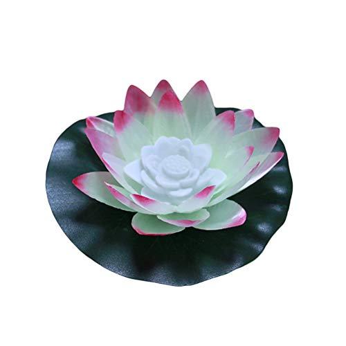 Mobestech schwimmende Lotus Lichter Wasser Laterne Lampe Blume Pool Licht bunte Wasser Laterne Kerze Lampe für Hochzeitsfest (Schwimmende Lotus Kerzen)