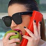 YLNJYJ Kim Kardashian Lunettes De Soleil Lady Flat Top Lunettes Lunette Femme Femmes Marque De Lunettes De Soleil Femmes Rivet Sun Glasse Uv400