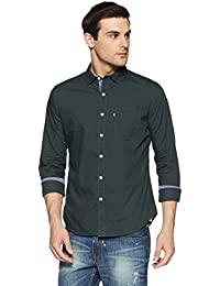 Levis Men's Solid Regular Fit Casual Shirt