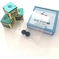 Blue Diamond Puntas de Diamante Azul y Tiza Triangular, 9 mm