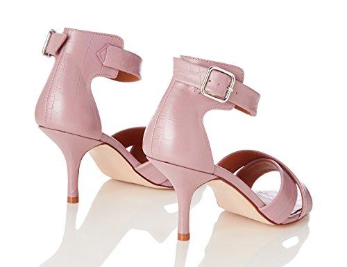 FIND Damen Sandalen mit Pfennigabsatz Pink