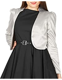 BlackButterfly Formal Satén Manga Larga Bolero Chaqueta