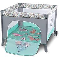 Lionelo Sofie - Parque infantil para bebé (desde el nacimiento hasta 15 kg, con bolsa de transporte, mosquitera)