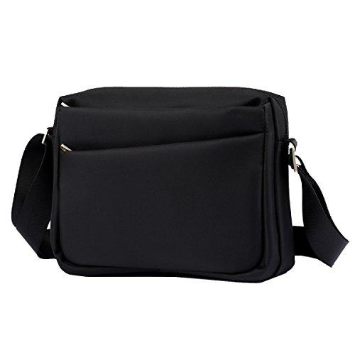 Yy.f Nuova Bag Croce Mens Sacchetto Delluomo Borse Moda Casuali Spalla Oxford Stoffa Impermeabile Messenger è Possibile Metta Il Sacchetto Del Ipad Sacchetto Solido Black