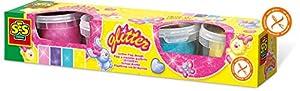 SES Creative plastilina con Brillantina SES, Multicolor (00466)