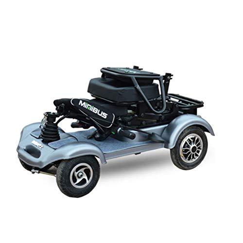DOS Elektromobil Elektroroller Elektroroller 4-Rad, Elektromobil für Senioren, Scooter E-Mobil,Silver