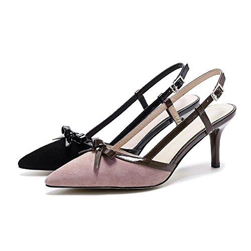 GJDE Da donna Sandali Matrimonio Ufficio e lavoro Serata e festa Comoda Cinturino alla caviglia stiletto Vernice Black